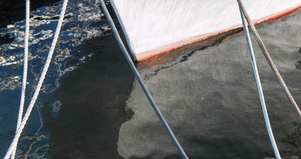 boat nose and water