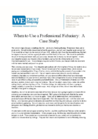 Case Study – When to Use a Professional Fiduciary